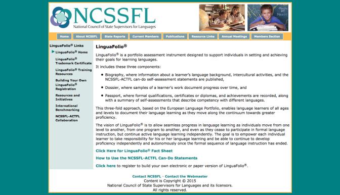 Linguafolio Self-assessment Portfolio